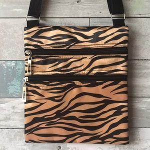 Zebra Tiger Print Handbag Pocketbook Purse Bag